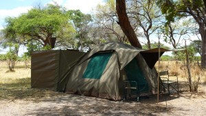 Our ensuite tents on the mobile safari
