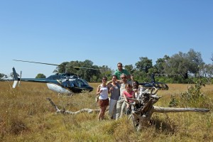 Agents enjoying a helicopter flight over the Delta.