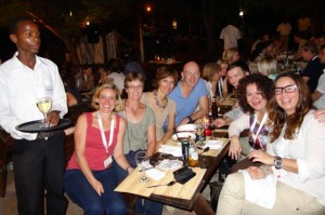 Dinner during the BTTE in Kasane - we had lots of fun.