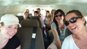 Flying to Selinda in a Caravan of Mack Air.