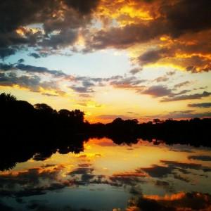 Sunset on the Boteti River