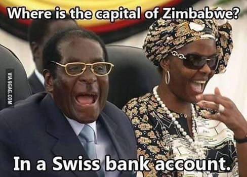 Mugabe might be a menace, but his antics are transparent enough that most Zimbabweans can get the best kind of humour out of a bad situation