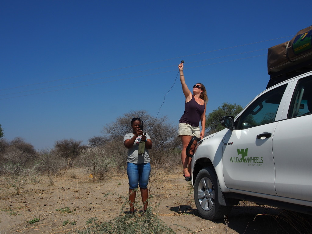 Scarlet & Brinny finding a satellite phone signal